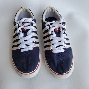 K-Swiss blue with white canvas sneakers size 5